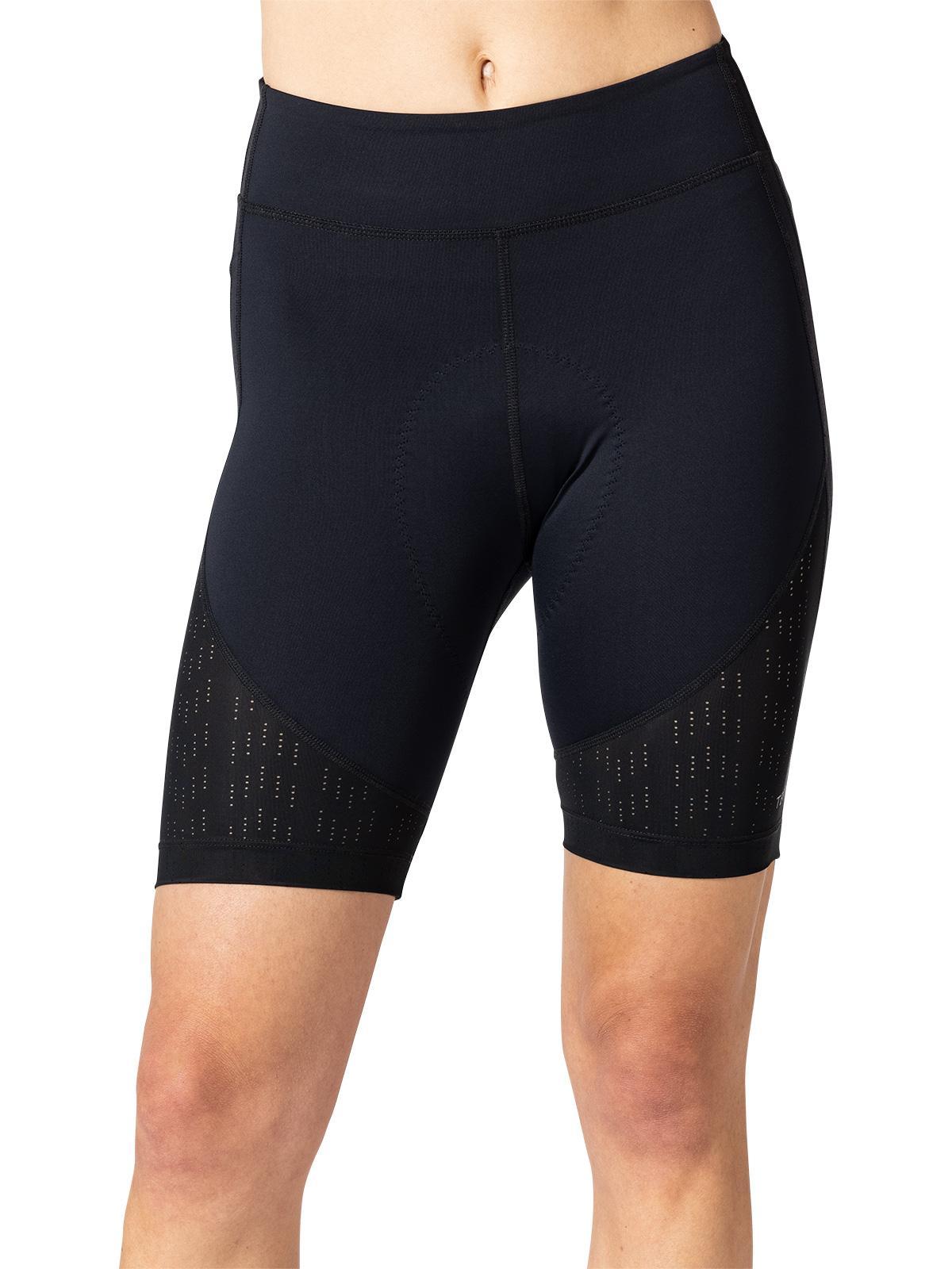 Terry Womens New Bike Bermuda Compression Shorts High Rise Leg Pocket Grip-Free Hem Longer Length Fleet Air Chamois Black Large