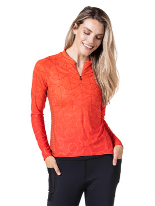 SOLEIL LONG SLEEVE JERSEY in Roller Front